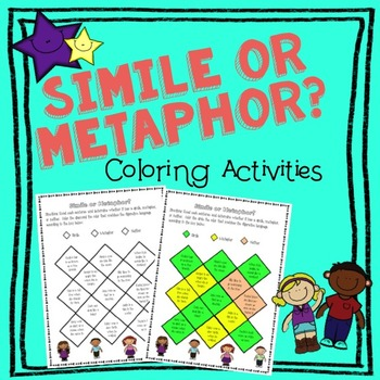 Simile and Metaphor Coloring Activity