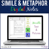 Simile and Metaphor DIGITAL Guided Visual Notes!