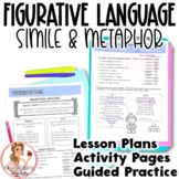 Simile and Metaphor Figurative Language in Poetry Activities and Lesson Plans