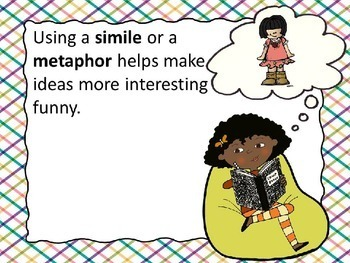 Simile and Metaphor Figurative Language Power Point and Assessment