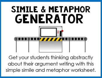 Simile and Metaphor Generator