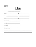 "Simile and Metaphor ""I Am"" Poem"