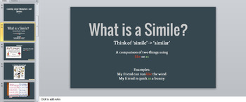 Simile and Metaphor - Lesson Plan + Powerpoint. Understanding + Creating