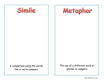 Simile and Metaphor Posters