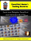Simile and Metaphor PowerPoint Lesson and Interactive Quiz