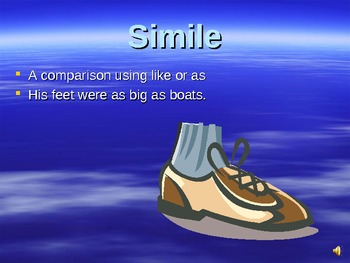 Simile and Metaphor Powerpoint Presentation Lesson (Figurative Language)