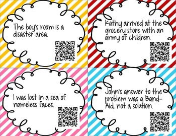 Simile and Metaphor QR Task Cards