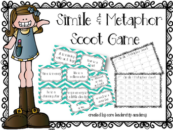 Simile and Metaphor Scoot Game