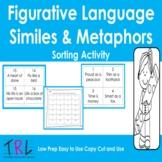 Figurative Language Simile and Metaphor Sort Cards