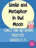 Simile and Metaphor in Owl Moon for Google Slides ~Print a