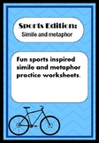 Simile and Metaphor practice worksheets: Sports Edition