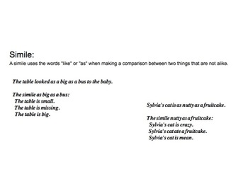 Simile in Poetry