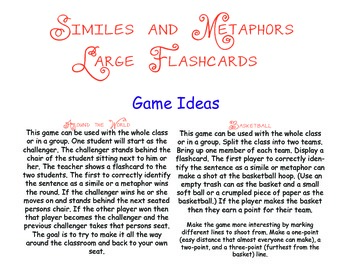 Simile or Metaphor Flashcards