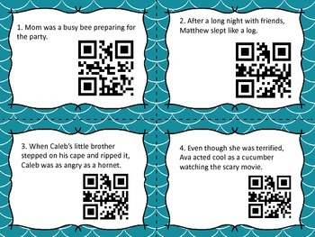 Simile or Metaphor QR Code Task Cards