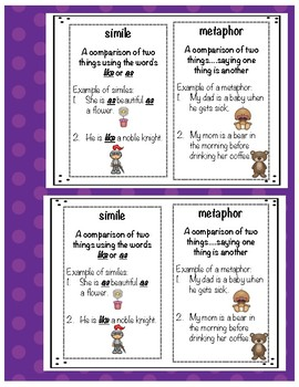 Simile or Metaphor? Task Cards & Activities