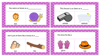 Simile task cards
