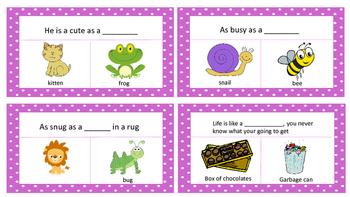 Simile task cards
