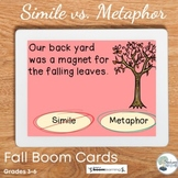 Simile vs. Metaphor- Fall Digital Task Cards