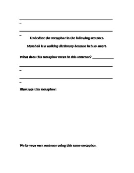 Simile/Metaphor Activity