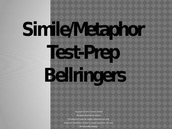 Simile/Metaphor Test-Prep Bellringers
