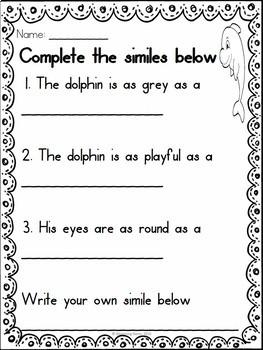 Figurative Language Worksheets - Similes | Figurative Language Activities