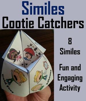Similes Activity - Figurative Language Foldable Quiz 3rd 4th 5th 6th 7th Grade