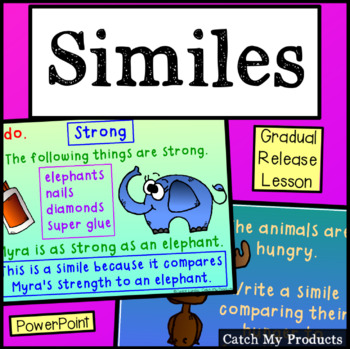 Parts of Speech : Similes - A Power Point Lesson