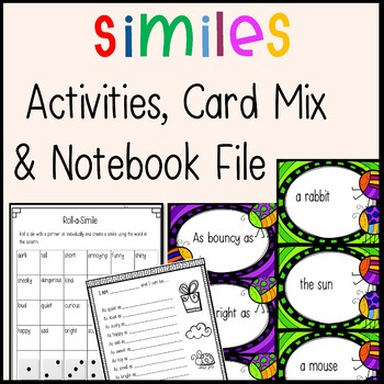 Similes - ALL YOU NEED Resources, Activities, Game Board and SMART Notebook File