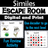 Similes: ELA Escape Room - English (Figurative Language Activity)
