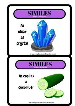 Similes Flash Cards