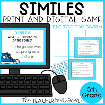 Similes Game | Similes Center | Similes Activities