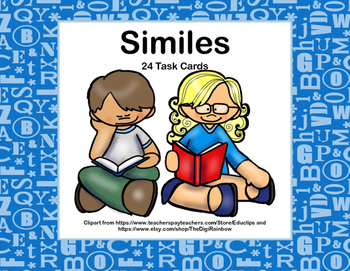 Similes-Grade 3-Task Cards-Kids