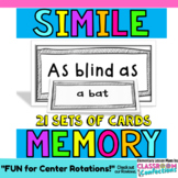 Similes Game: Literacy Center: Grammar Game: 4th grade, 3rd, 5th