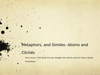 Similes, Metaphors, and Cliches Powerpoint