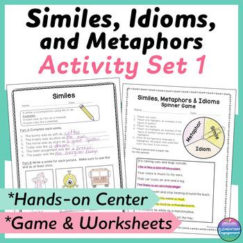 Similes, Metaphors, and Idioms Sort and Worksheet