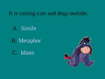Similes, Metaphors, and Idoms Powerpoint Slideshow (Figurative Language)