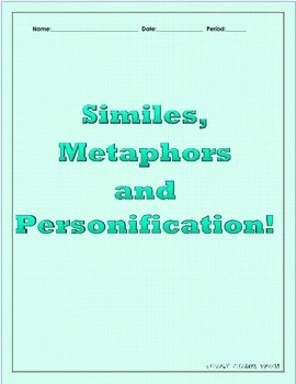 Figurative Language: Similes, Metaphors and Personification