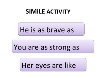 Similes Powerpoint and Activity