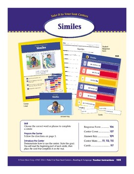 Similes (Take It to Your Seat Centers)