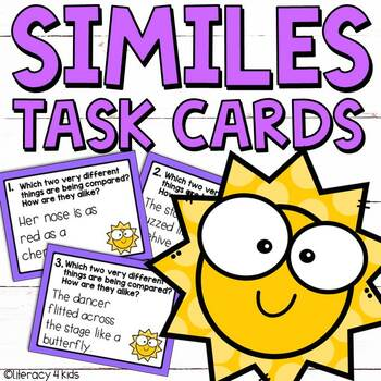 Similes Task Cards