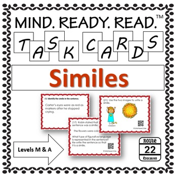 Similes Task Cards for Middle School
