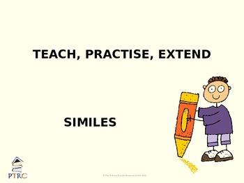 Similes Teaching PowerPoint