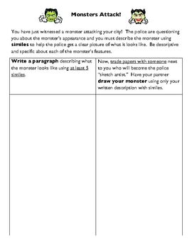 Similes Worksheet - Have Fun with Similes!