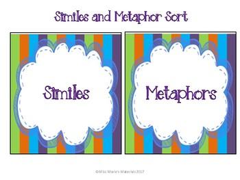 Similes and Metaphor Activity Set