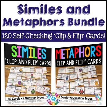 Similes and Metaphors Activities: 120 Similes and Metaphors Task Cards