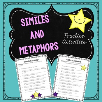 Similes and Metaphors Practice Activities