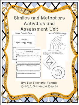 Similes and Metaphors Activities and Assessments