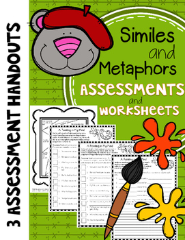 Similes and Metaphors Assessments and Worksheets