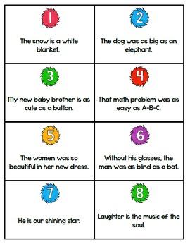 Similes and Metaphors {Board Game}