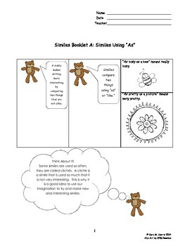 Similes and Metaphors Bundle
